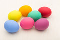 Colourful easter egg on linen background Royalty Free Stock Photography