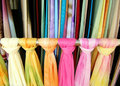 Colourful ethnic scarves  Royalty Free Stock Photos