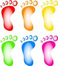 Colourful Feet Royalty Free Stock Photography