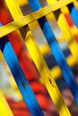Colourful fencing Stock Photography