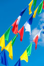 Colourful flags Royalty Free Stock Image