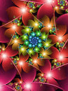 Colourful Flower Fractal