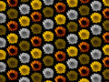 Colourful flower repeat background Royalty Free Stock Photo