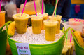 Fruit Smoothie in amsterdam Royalty Free Stock Photo