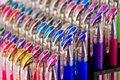 Colourful Gel Pens Royalty Free Stock Photo