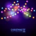 Colourful Glowing Christmas Lights Royalty Free Stock Photo