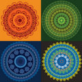 Colourful Henna Mandala Stock Photos