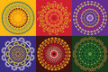Colourful Henna Mandala Royalty Free Stock Images