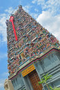 Colourful hindu temple dedicated to lord murugan in bandar sunway malaysia this has beautiful architecture and also Stock Image