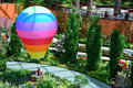 Colourful hot air balloon in gardens by the bay singapore Royalty Free Stock Images