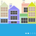 Colourful houses Royalty Free Stock Photos