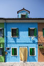 Colourful houses in Burano Stock Photography