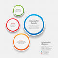Colourful infographic background d circular with sample text Royalty Free Stock Photos