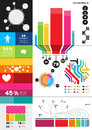 Colourful infographics charts infomation elements Royalty Free Stock Photography
