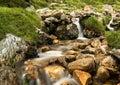Colourful Irish mountain stream Croagh Patrick Royalty Free Stock Photo