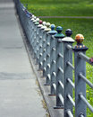Colourful iron fence Stock Photos