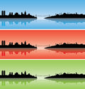 Colourful Istanbul silhouettes Royalty Free Stock Image