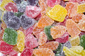Colourful jelly bonbons close up of sugar coated Stock Images