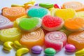 Colourful  jelly candies Royalty Free Stock Photo