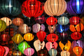 Colourful lanterns glowing for sale Stock Images