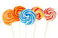 Colourful lollipop isolated Royalty Free Stock Image