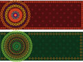 Colourful Mandala Banner with Border Stock Image