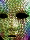 Colourful metal mask Royalty Free Stock Photography