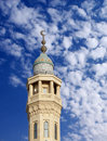 Colourful minaret of a Mosque in Bahrain Royalty Free Stock Images