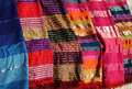 Colourful Moroccan textiles. Royalty Free Stock Photo