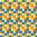 Colourful mosaic with four colored squares Royalty Free Stock Images