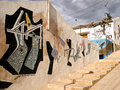 Colourful murals in the san isidro barrio of the town orihuela in the province of alicante spain Stock Photos