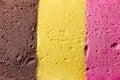Colourful Neapolitan ice cream background texture Royalty Free Stock Photo