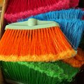 Colourful Nylon Brooms Royalty Free Stock Photo