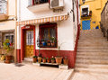 Colourful Old Houses in Alicante, Spain Royalty Free Stock Photo