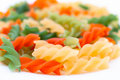 Colourful pasta, macro Stock Photos