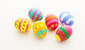Colourful pattern easter egg isolated on white Stock Images