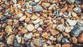Colourful pebbles on Brighton beach