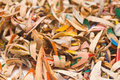 Colourful Pencil Shavings  Stock Photography