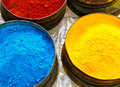 Colourful Pigments Stock Photography