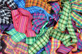 Colourful Plaid Ribbons Stock Images