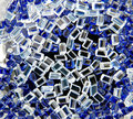 Colourful plastic granules blue and white Royalty Free Stock Image