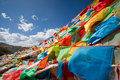 Colourful prayer flags Stock Photography