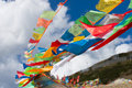Colourful prayer flags Royalty Free Stock Photos