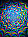 Colourful psychedelic pattern Royalty Free Stock Photo
