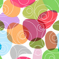 Colourful random circles background a texture of round elements on white Stock Photo