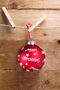 Colourful red merry Christmas bauble Royalty Free Stock Photo