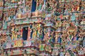 Colourful rooftop of madurai temple tamil nadu india Royalty Free Stock Photography