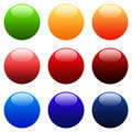 Colourful Round Gradient Web Buttons Royalty Free Stock Image