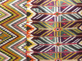 Colourful rug background divided into two sections parts Royalty Free Stock Photo