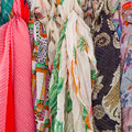 Colourful scarfs Royalty Free Stock Photo